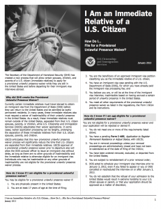 601A Provisional Waiver: I601A for illegal/undocumented immigrants ...