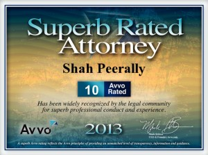 Superb rated attorney: Shah Peerally