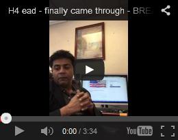 H4 ead - finally came through - BREAKING NEWS
