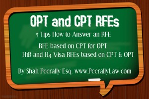 Petition update · Tips to answer OPT RFE · Change org